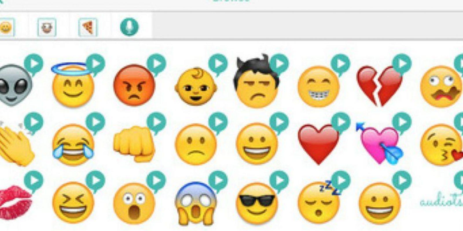 """""""Audiots"""" les permite enviar emojis con sonido. Foto:Vía emojipedia.org"""
