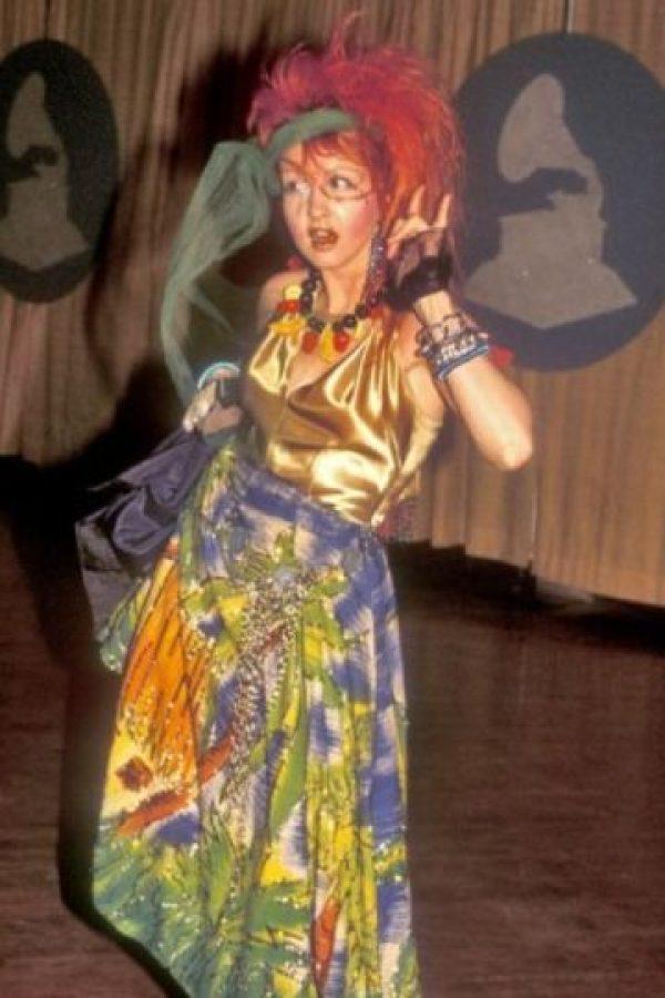 Cyndi Lauper… siendo Cyndi Lauper. Foto:vía Getty Images