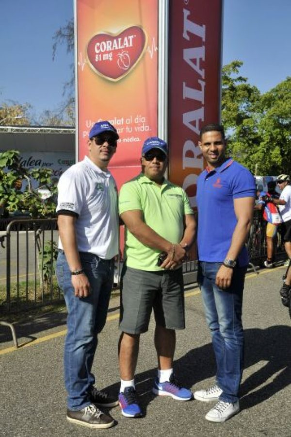 Daniel Paulino, Héctor García y Jean Luis Gil, miembros del equipo organizador Foto:Fuente Externa