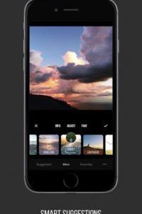 4- Priime. Permite editar fotos con filtros creadores a partir de los estilos de los mejores fotógrafos del mundo. Pueden copiar las ediciones de una sola foto y pegarlas a otras, ocupar las herramientas de edición para afinar y pulir las imágenes, deshacer alguna acción con el historial, entre otras opciones más. Disponible para iOS.