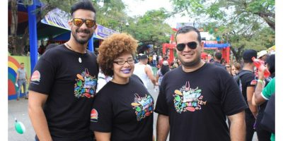 Robert Llaverías, Iohan Fuertes y Mandy En Gajos. Foto:Fuente Externa