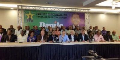 Sindicalistas anuncian apoyo a la candidatura de Medina