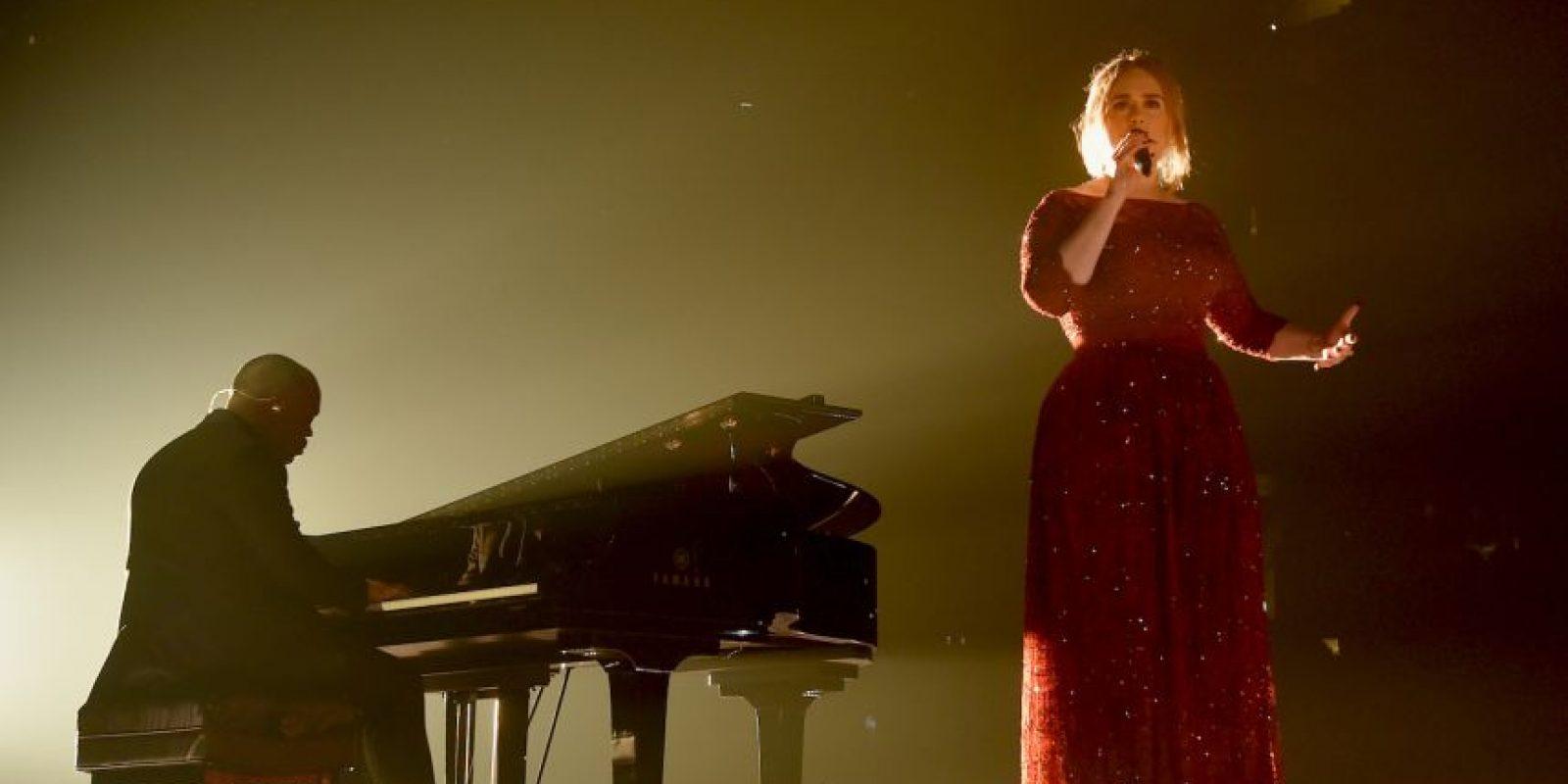 Esta fue la presentación de Adele el pasado lunes en los Grammy Foto:Getty Images