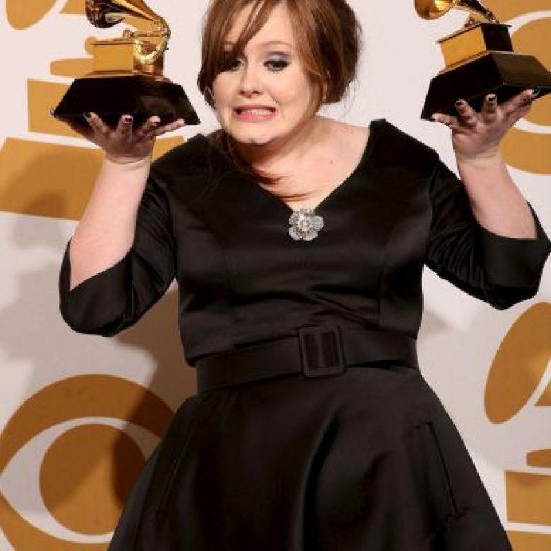 Así lucía Adele en los Grammy 2009 Foto:Getty Images