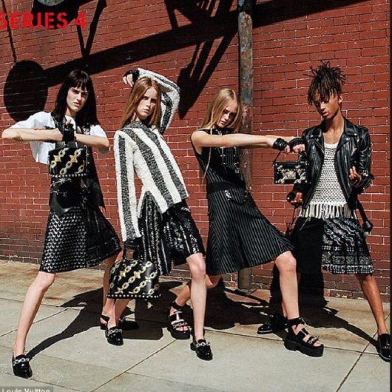 """Jaden Smith es una de las primeras celebridades """"genderless"""" de su generación. Foto:vía Louis Vuitton"""