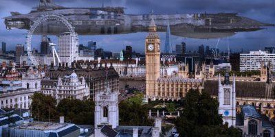 "La Mano Invisible (""Star Wars"") sobre Londres (Reino Unido) Foto:@sefipolis"