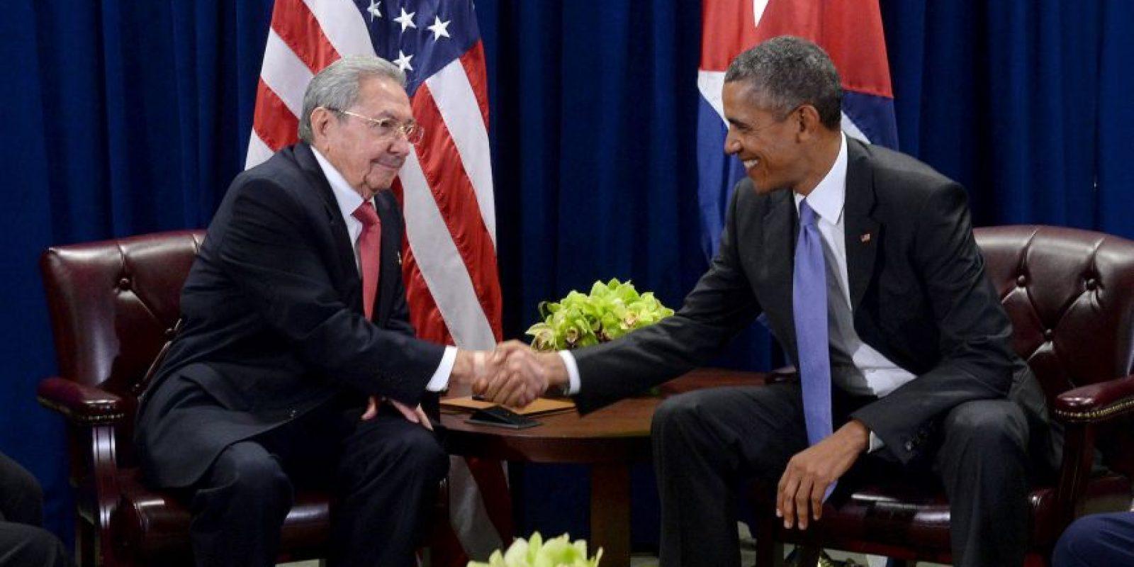 Cuando ambos se reunieron en Nueva York, en la sede de Naciones Unidas, con motivo de la 70 Asamblea General Foto:Getty Images