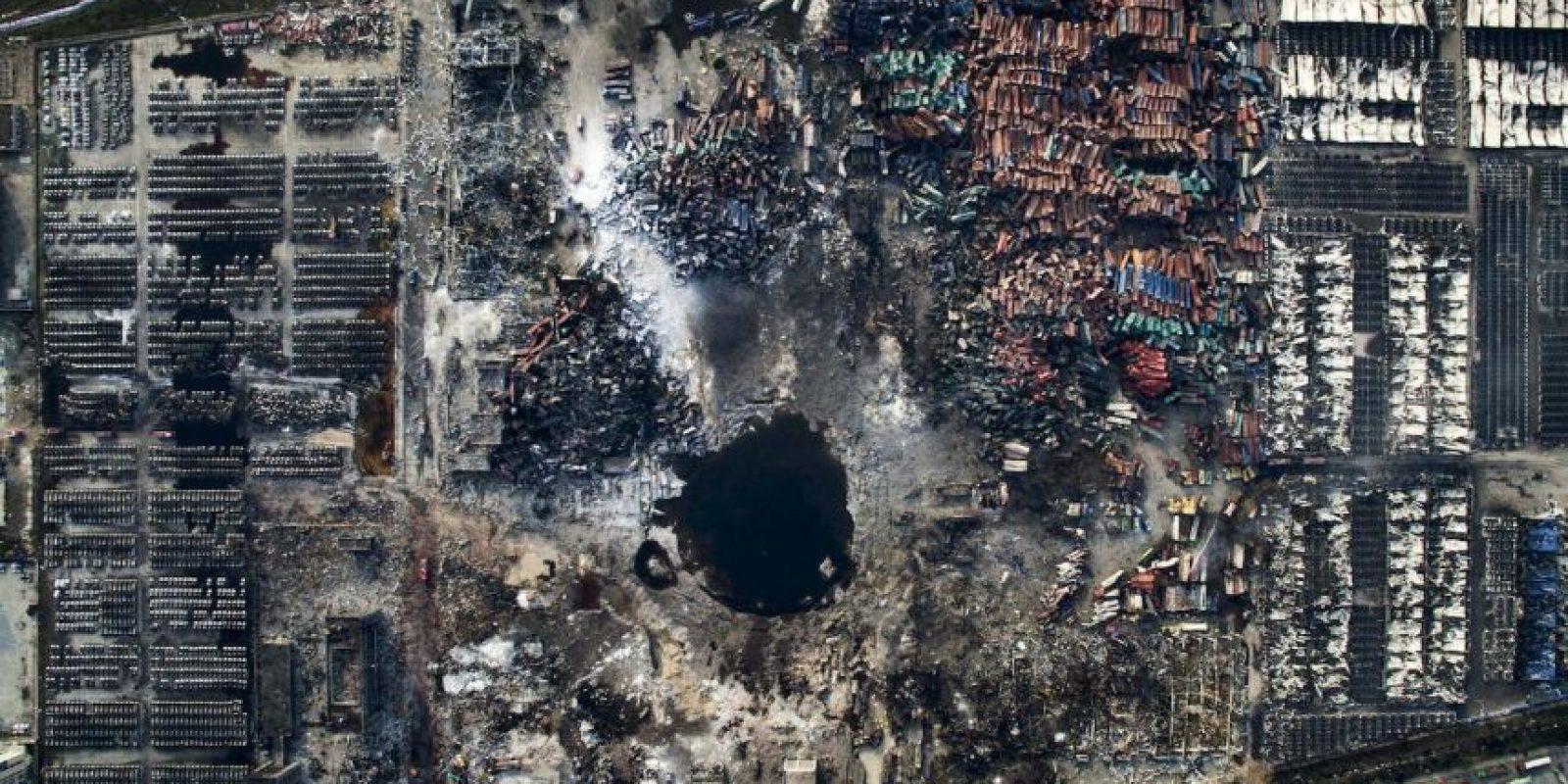 Chen Jie. Vista aérea de la explosión en Tianjin, China. Foto:worldpressphoto.org