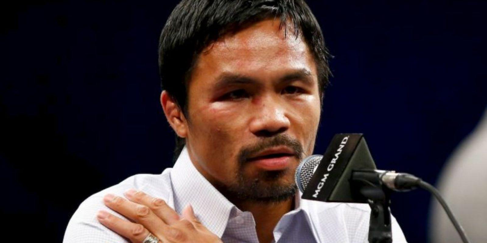 Manny Pacquio se metió en una gran polémica Foto:Getty Images