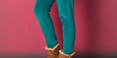Y con falda de jean y chaleco inflado de peluche también. Foto:vía eBay
