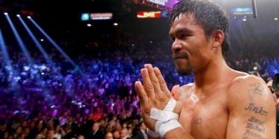 Manny Pacquiao se disculpa por comparar a homosexuales con animales. Tiene un récord en el boxeo profesional de 57 victorias, seis derrotas y dos empates Foto:Getty Images