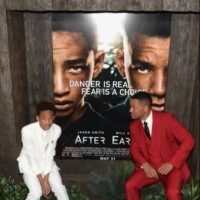 """Will y Jaden Smith. Sus gestos, su talento, carisma y hasta el cabello, el hijo del """"Príncipe del rap"""" parece su pequeño clon Foto:Getty Images"""