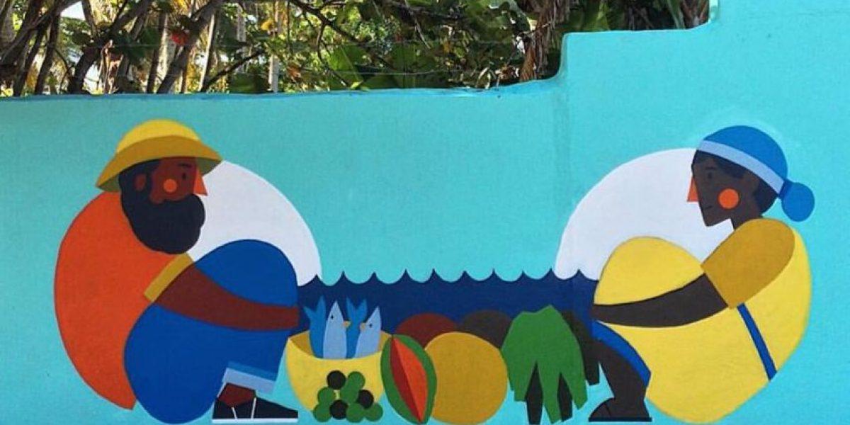 Exhibición de murales en homenaje  a la dominicanidad