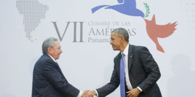 Para abril de 2015 ambos presidentes se reúnen en Panamá durante la Cumbre de las Américas. Foto:AP