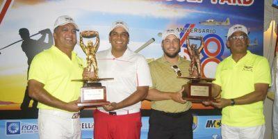 Muñoz y Genao ganan Torneo de Golf Benéfico de Fuerza Aérea Dominicana