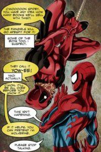 15. Tiene una relación de amor/odio con Spiderman. Este no soporta sus burlas. Acá recrean el clásico beso de la primera película del superhéroe. Foto:vía Marvel