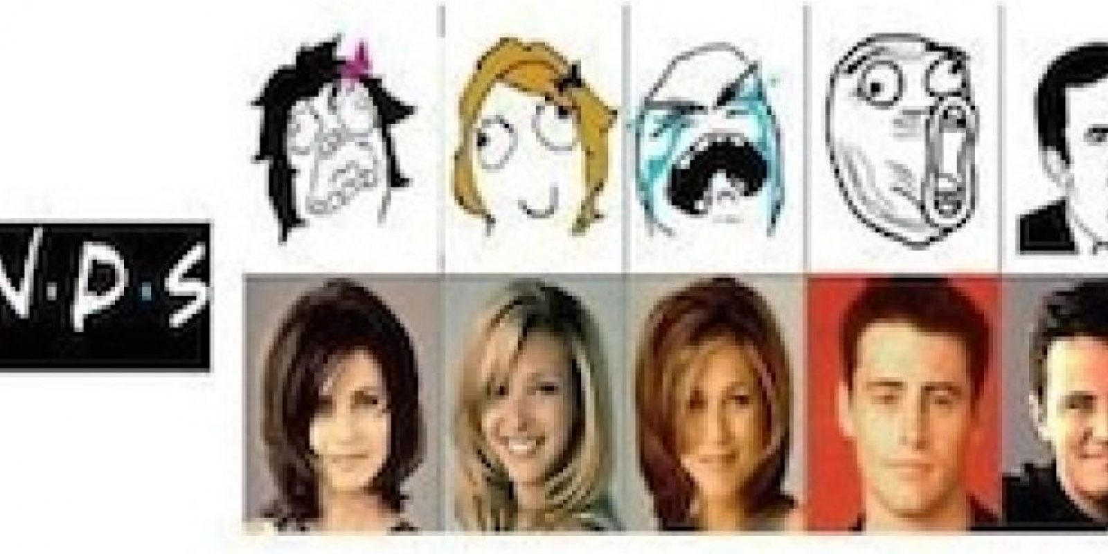 El antes y después de los amigos Foto:Internet