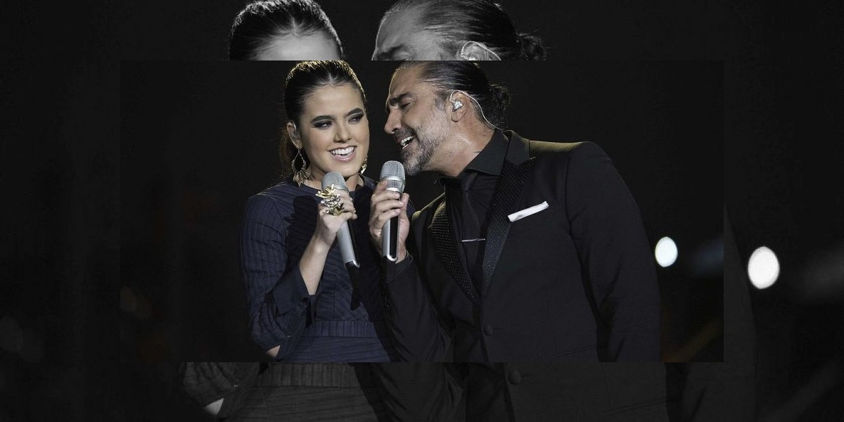 Alejandro Fernández graba dueto con su hija