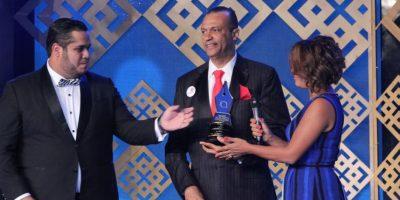 Feliz Vinicio Lora también subió con alegría a recibir su reconocimiento. Foto:Cristian santana