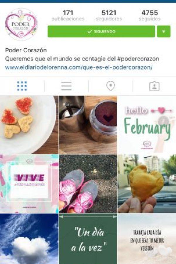 5- @Poder_Corazon: Esta cuenta busca contagiar a todas las personas para que trabajen diariamente en ser la mejor versión de ellos mismos, movidos por el amor. Foto:Fuente externa