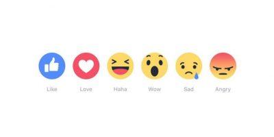 Estas son las nuevas reacciones en Facebook. Foto:Facebook