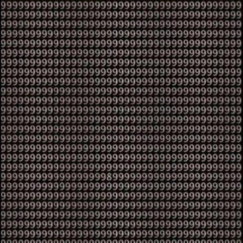 ¿Pueden encontrar el número 8 en menos de un minuto? Foto:Vía Twitter.com