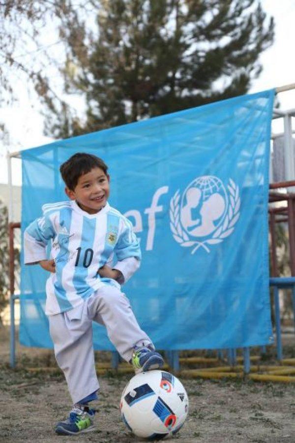 La cual recibió a través de UNICEF Afganistán Foto:facebook.com/afghanistanunicef/