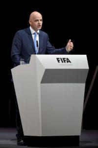 """""""Muchas de las personas que componen la FIFA merecen que el organismo se respete, estar orgullosos de FIFA y que se nos aplauda en un futuro"""". Foto:Getty Images"""