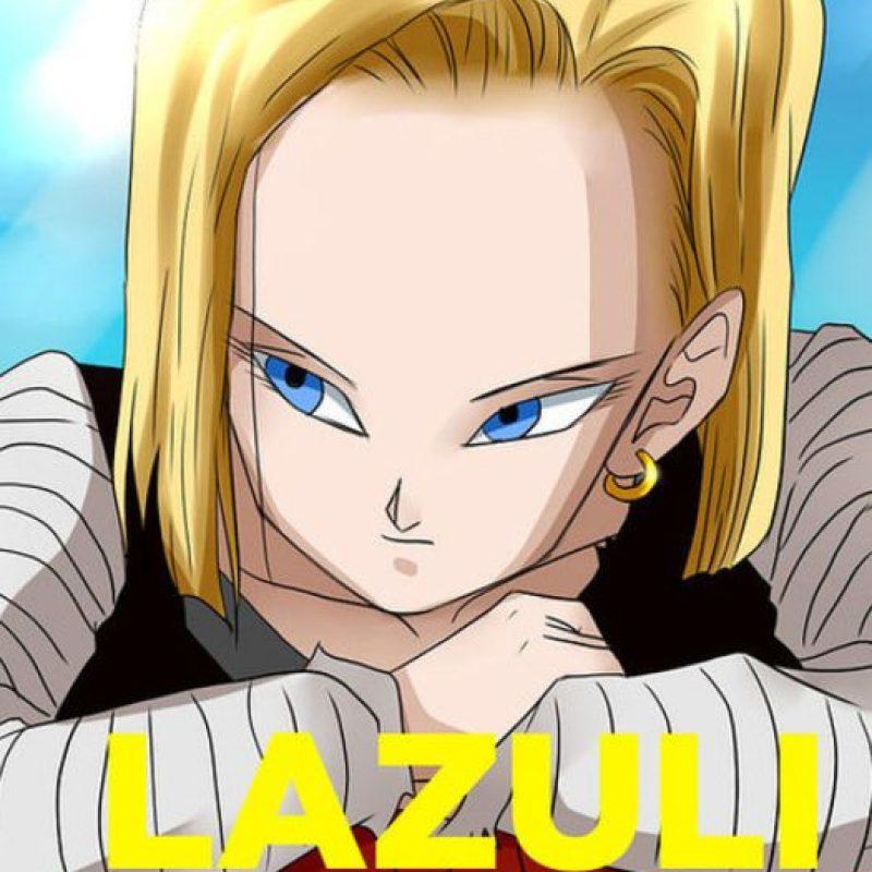 El verdadero nombre de la Androide 18 es Lazuli. Los dos nombres fueron revelados el año pasado en una de las ediciones del manga de Dragon Ball. Foto:Toei
