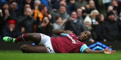 Así celebró el gol que le dio el triunfo 1-0 al West Ham sobre Sunderland Foto:Getty Images