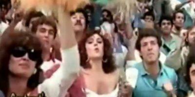 "Conocida como la ""Chica Chiquitibum"" saltó a la fama en el Mundial de México 1986 Foto:Twitter"