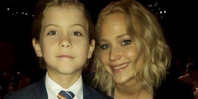 Con Jennifer Lawrence Foto:vía instagram.com/jacobtremblay