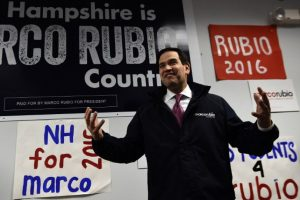 Marco Rubio. Compite con Cruz por el segundo lugar detrás de Trump. Foto:AFP