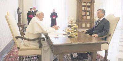 Primer encuentro entre el papa y  Mauricio Macri