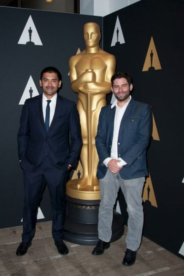 """Mejor corto animado – Gabriel Osorio y Pato Escala por """"Bear Story"""" Foto:Getty Images"""