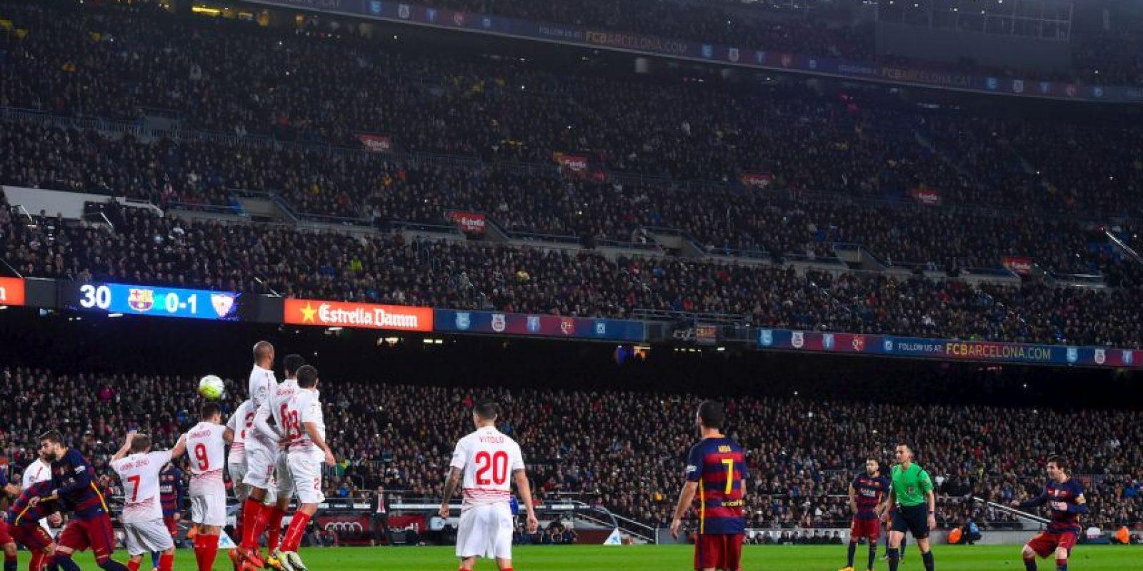 Lionel Messi marcó un gran gol en el último partido del Barcelona Foto:Getty Images