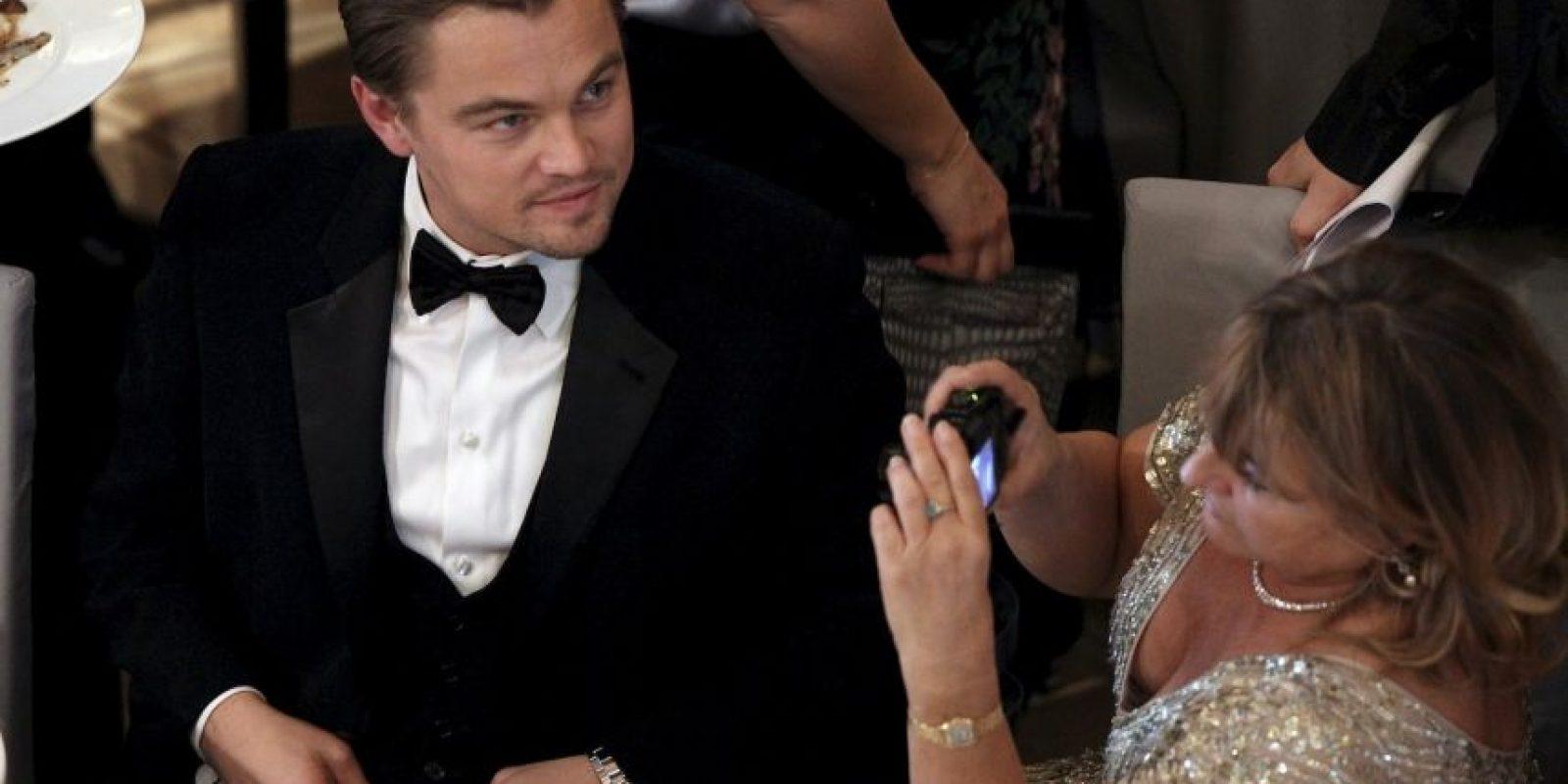 Leonardo DiCaprio junto a Irmelin Indenbirken Foto:Getty Images