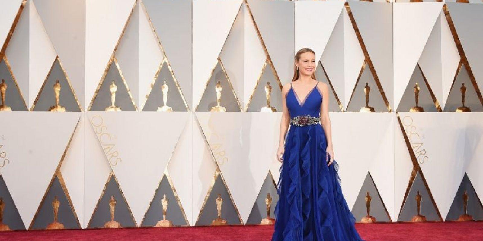 Brie Larson, vestida de Gucci con joyas de Niwaka, se alzó con el premio a Mejor Actriz, pero su apariencia ya la había convertido en ganadora. Foto:Fuente externa