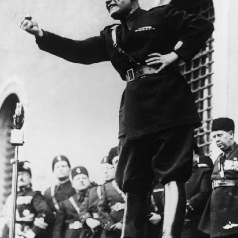 Durante su gobierno, Italia entró en la Segunda Guerra Mundial en junio de 1940. Foto:Getty Images