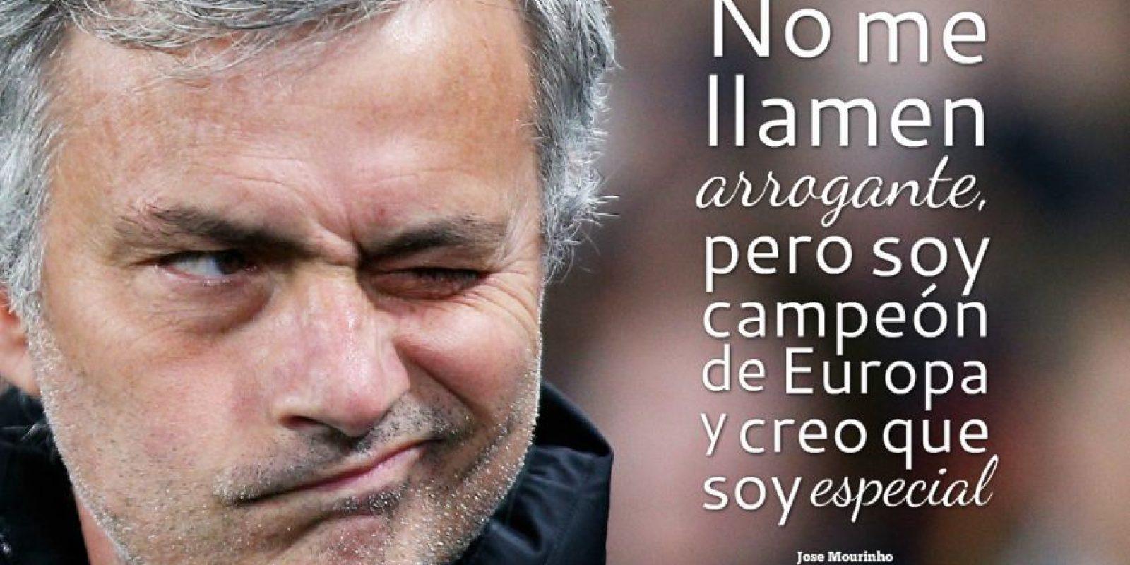 """7. Con esta frase, Mourinho se presentó en Chelsea en 2004, tras ganar la Champions League al mando del Porto. Gracias a ello fue bautizado por la prensa inglesa como """"The Special One"""" (El especial). Foto:Getty Images"""