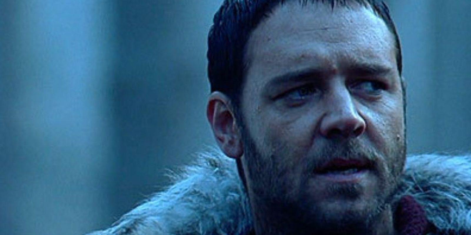 """Esta genial frase inmortalizó a Russell Crowe, quien interpretó a Máximo en """"Gladiador"""", película que le dio el Oscar a Mejor Actor en 2000. Foto:vía DreamWorks"""