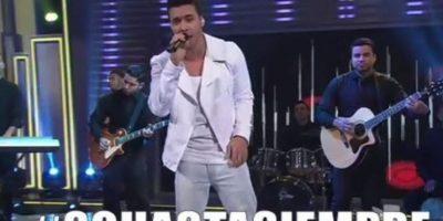 Prince Royce hizo su show. Foto:Vía Twitter/Univision