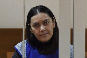 La mujer apareció en la Corte de Distrito de Presesnky, en Moscú, Rusia Foto:AFP