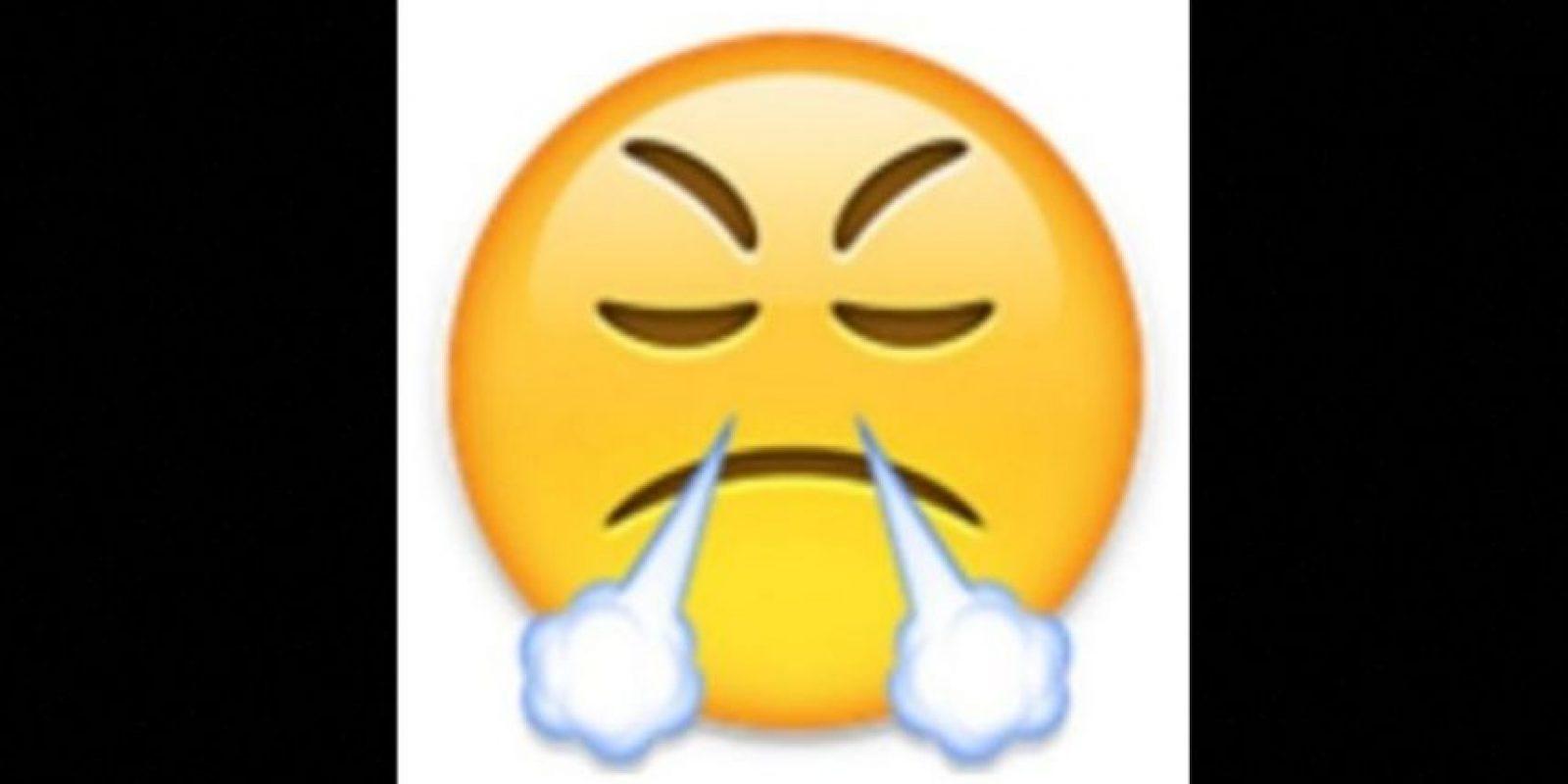 9. Utilizada comunmente para expresar enfado o frustración, en realidad es un rostro con mirada de triunfo Foto:vía emojipedia.org
