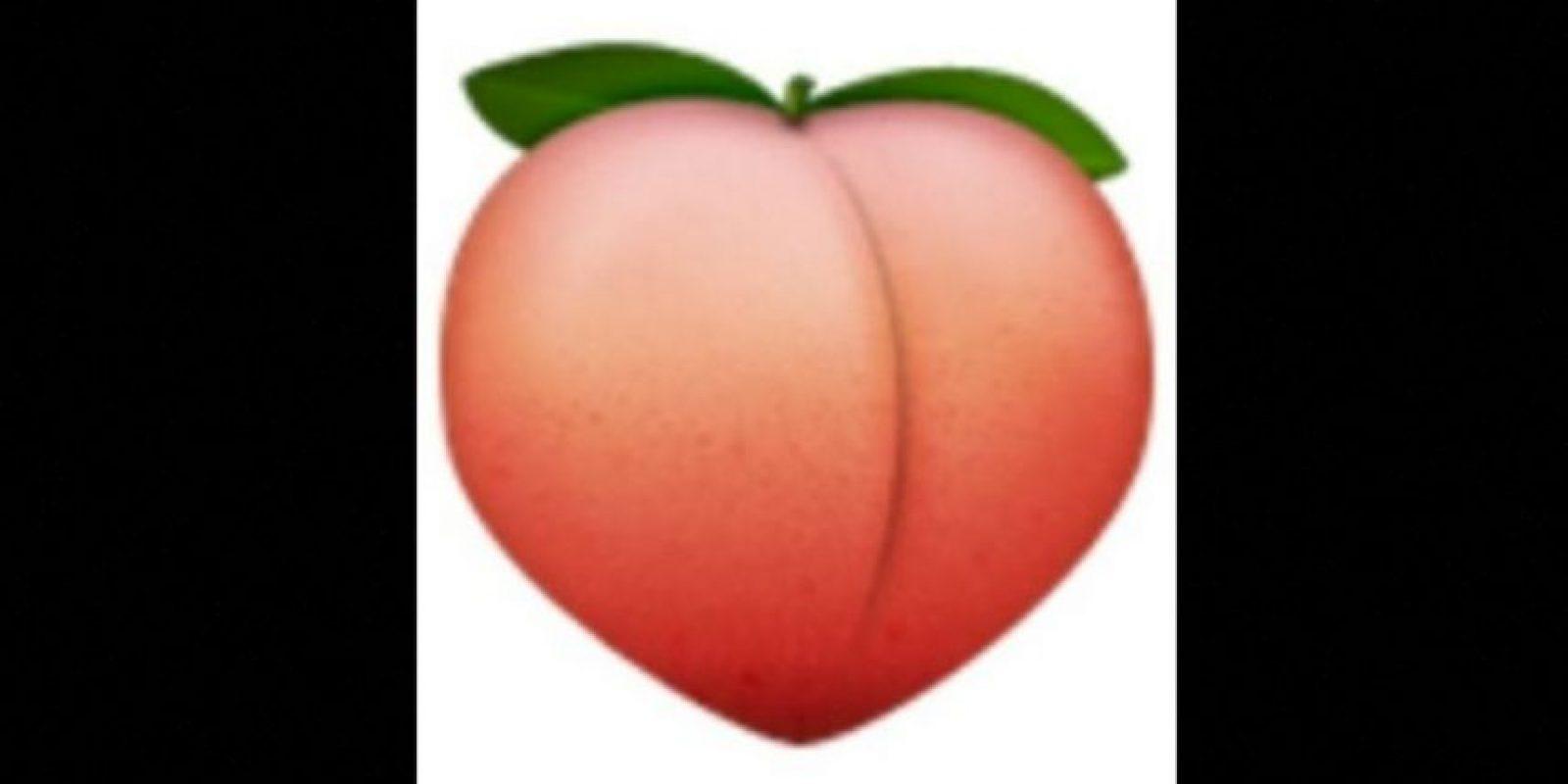 10. Empleado con connotaciones sexuales, se trata de una fruta llamada melocotón Foto:vía emojipedia.org