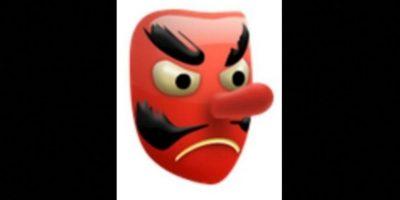 5. Es utilizado como el diablo, aunque solamente es una máscara japonesa de un duende. Foto:vía emojipedia.org