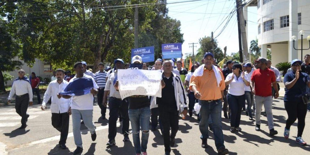 Marcha de la UASD hacia el Palacio terminó en disturbios