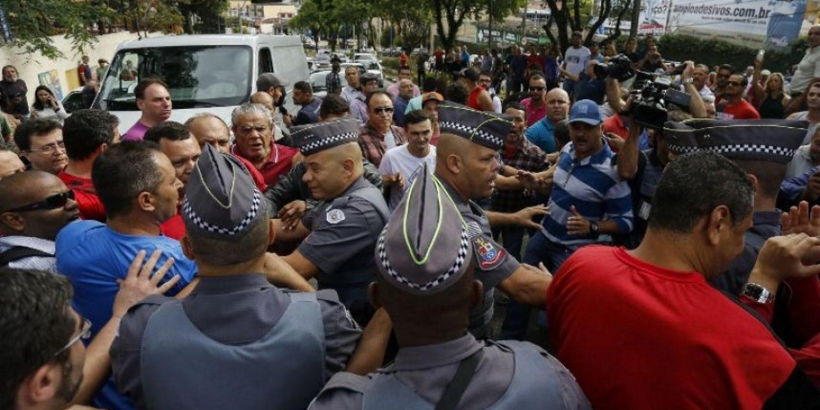 Hubo algunos enfrentamientos Foto:AFP