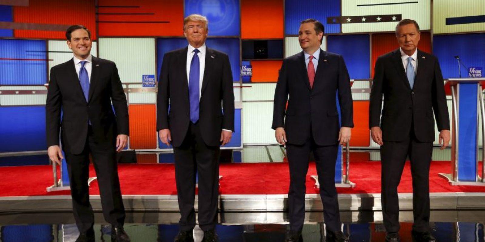 Todos los precandidatos cuestionaron a Donald Trump Foto:AP