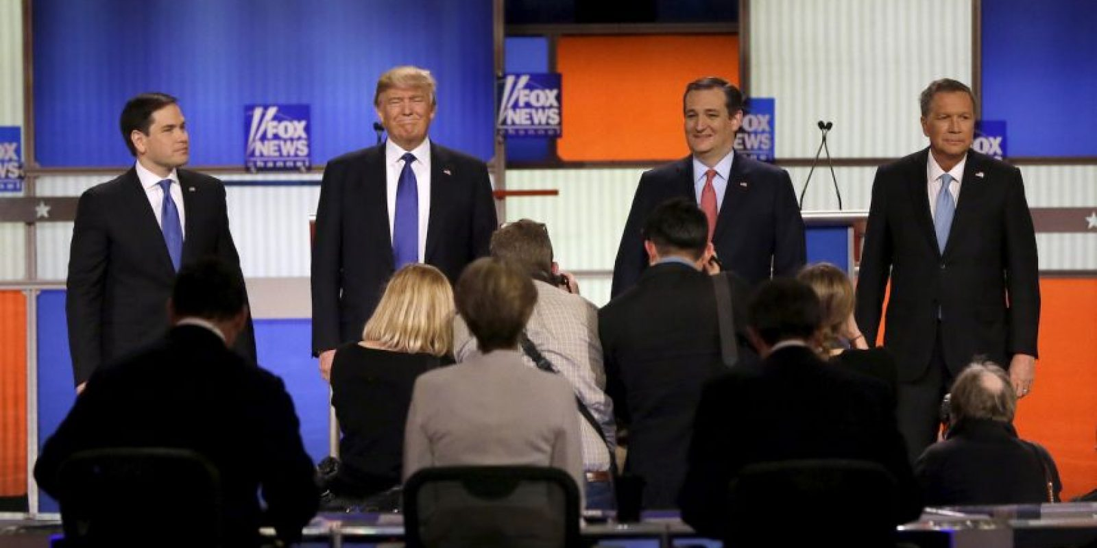 El debate republicano en Detroit Foto:AP